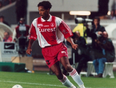 Thierry Henry - archive archives - as monaco - foot football - largeur action